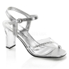 ROMANCE-308R Clear/Silver Faux Leather